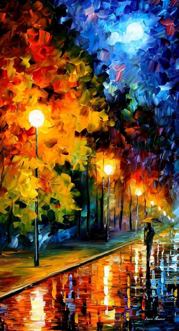 This night in the sky I see amazing moon. I remembered this painting http://www.ebay.com/itm/162145811272