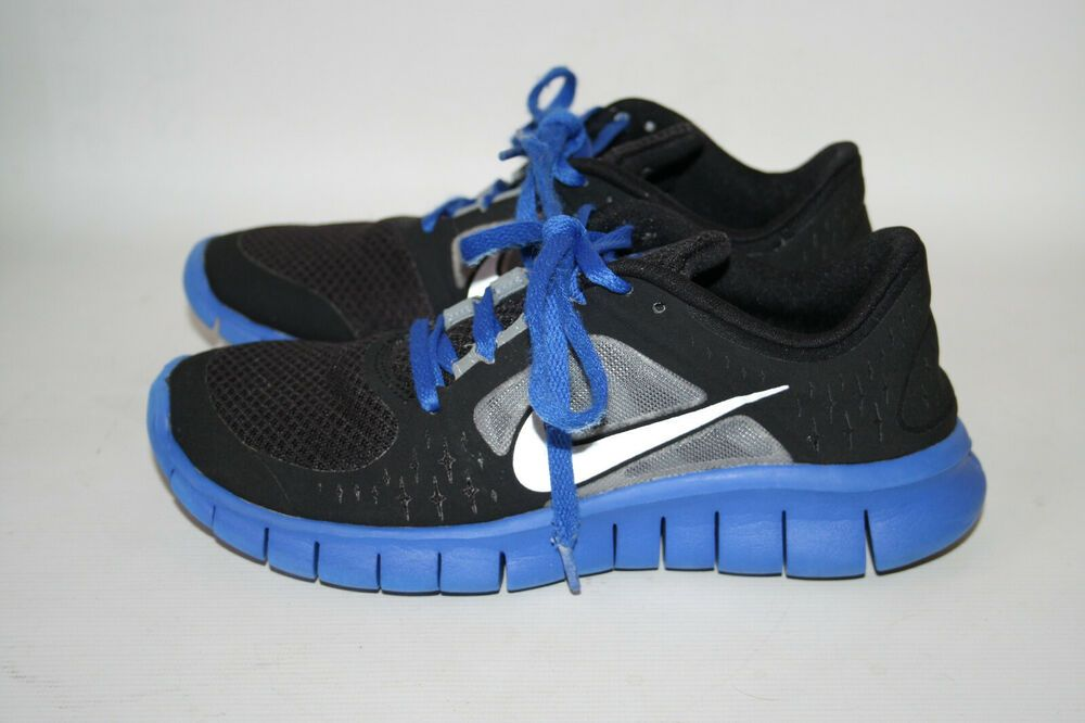 low priced d977e 39d01 Nike Free Run 3 Shoes Kids Running Trainers Casual Gym Black Size UK 4 36.5