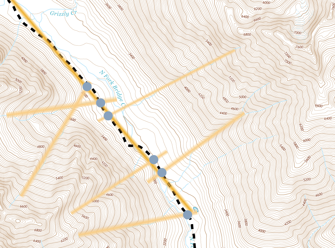 Route Finding Using Terrain Features And Triangulation