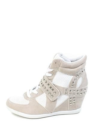 9907a054907 STUDDED WEDGE SNEAKERS .