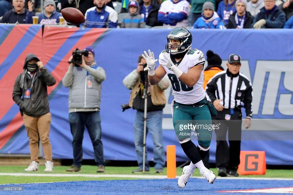 News Photo Trey Burton of the Philadelphia Eagles scores