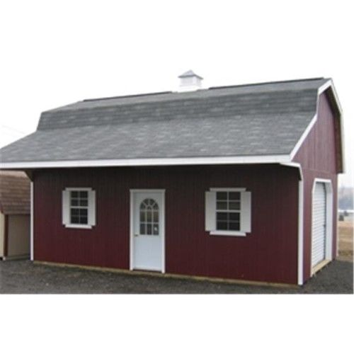 Little Cottage 16x30 CWGB-OH-WPNK Classic Large Barn with
