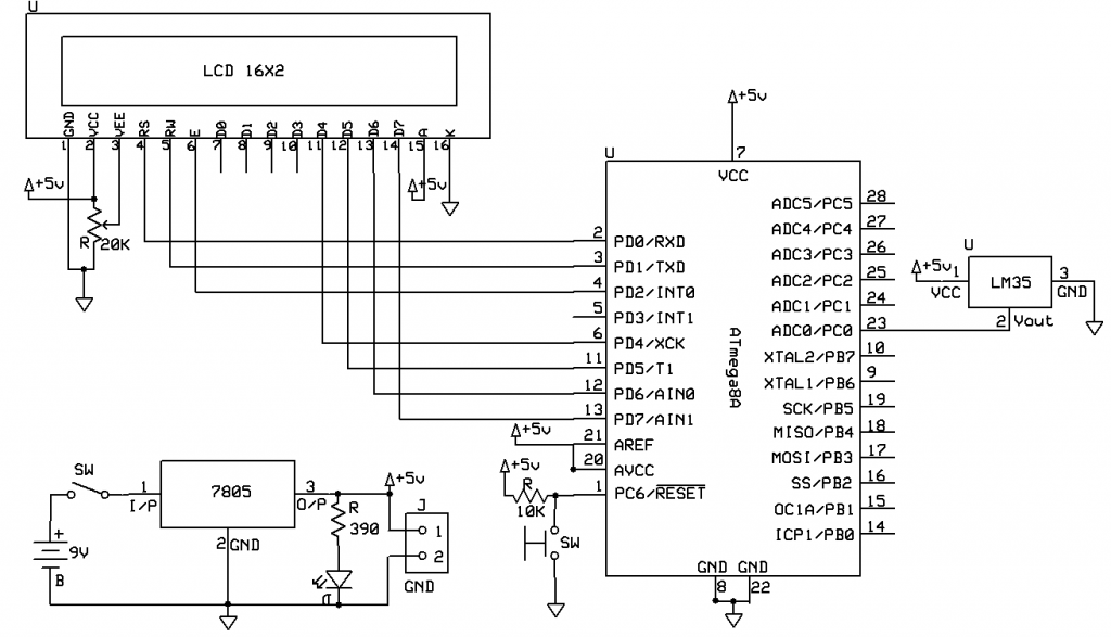 Temperature Measurement Using LM35 And AVR Microcontroller