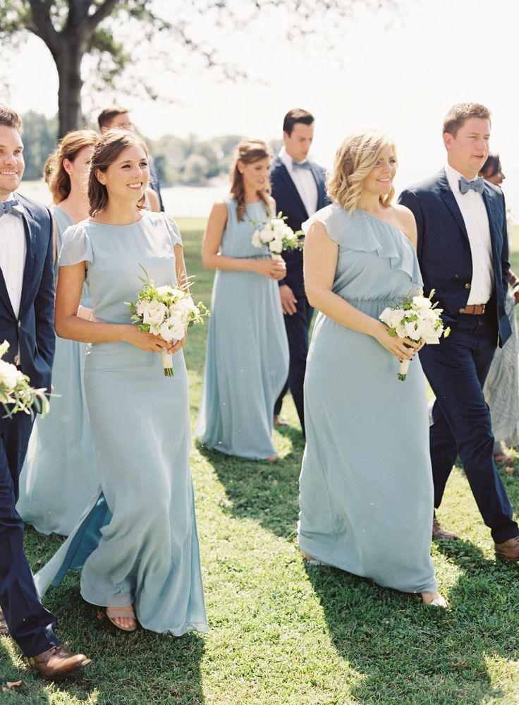Blue Bridal Party Http Itweddings Sailboat Nautical Wedding Bridesmaid Dresses Pinterest Parties And Weddings