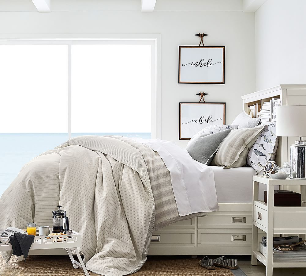 Love this storage bed from Pottery Barn. (With images