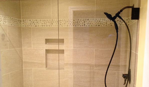 Bathroom Tile And Built In Shelving Make This Shower Stand Out! Http:/