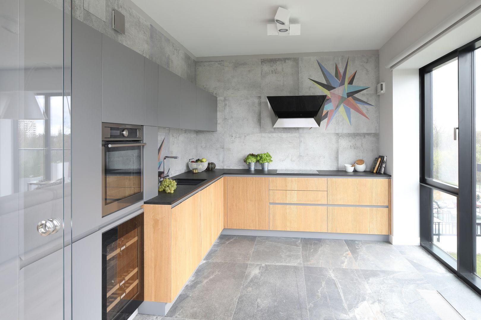Szara Kuchnia Projekt Magdalena Lechmann Fot Bartosz Jarosz Contemporary Kitchen Design Kitchen Design Best Kitchen Designs