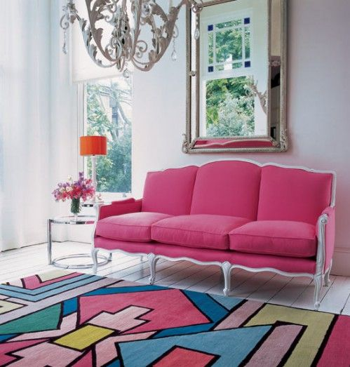 not crazy about the rug, but that sofa is fabulous