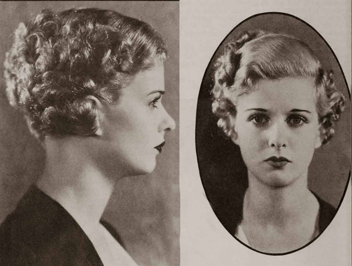 30s Hairstyle: 1930 Hollywood Beauty Tricks - Oct 1932