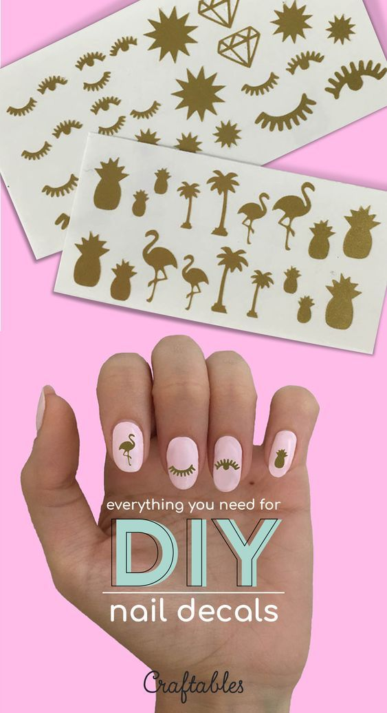 How to create vinyl nail decals | Craftables Blog