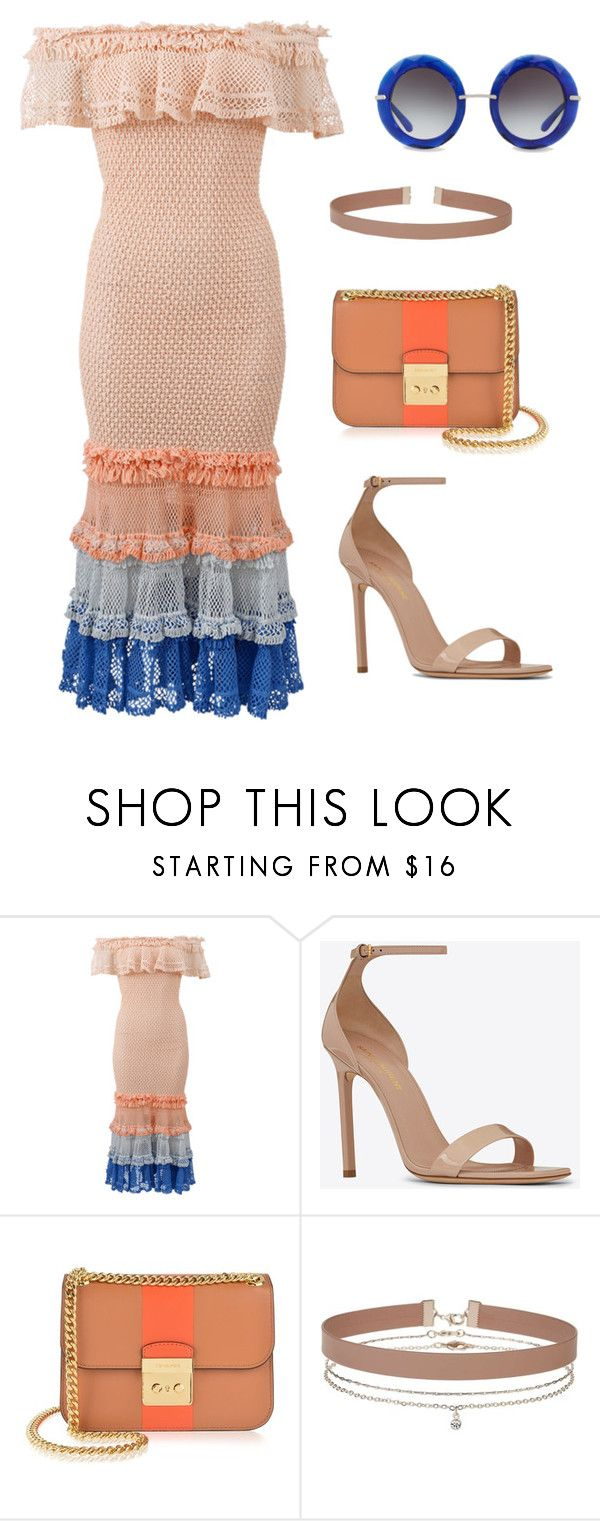 """""""In Madrid *** (ms)"""" by ale-pink5 ❤ liked on Polyvore featuring Jonathan Simkhai, Yves Saint Laurent, MICHAEL Michael Kors, Miss Selfridge and Dolce&Gabbana"""
