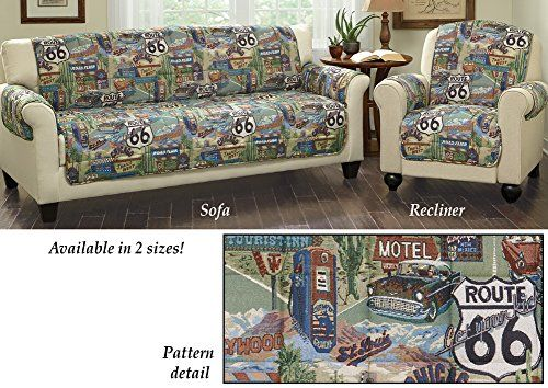 Quilted Route 66 Furniture Protector Cover Multi Sofa Collections Etc  Http://www.