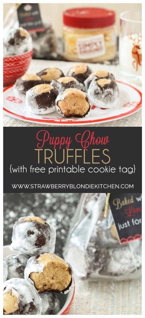 Puppy Chow Truffles - Strawberry Blondie Kitchen