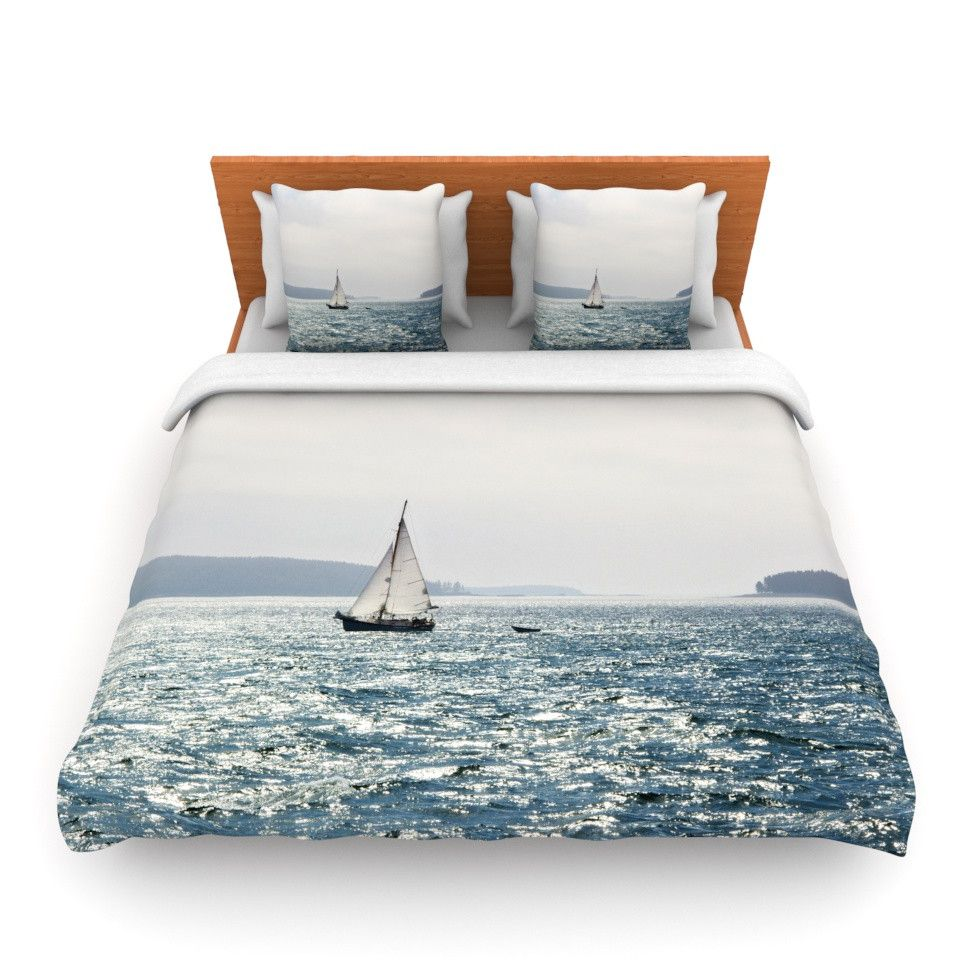 East Urban Home Jillian Audrey Sail The Sparking Seas Woven Duvet Cover Size Full Queen