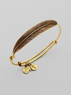 ALEX AND ANI - feather wrap bangle.