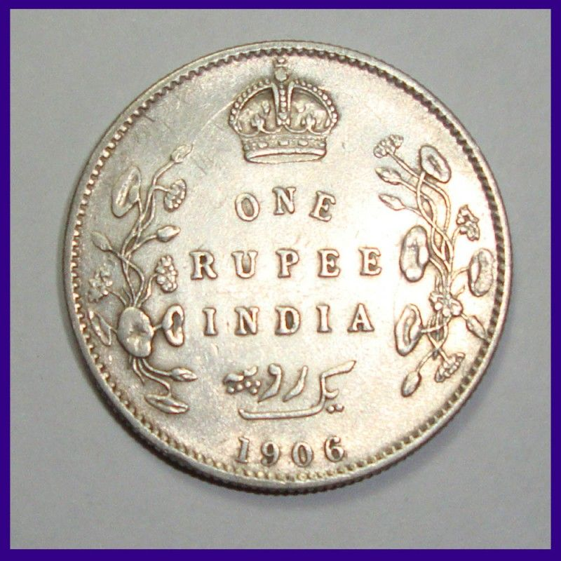 1906 one rupee coin value