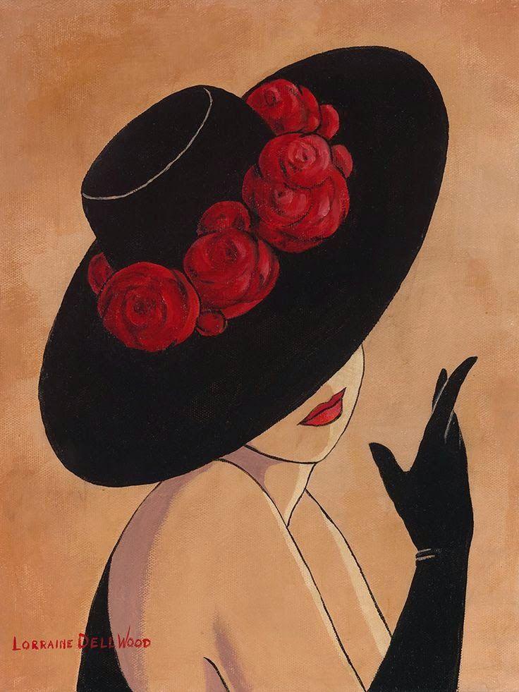 Lorraine Dell Wood ~ Flirty Hat | Tutt'Art@ | Pittura * Scultura * Poesia * Musica |