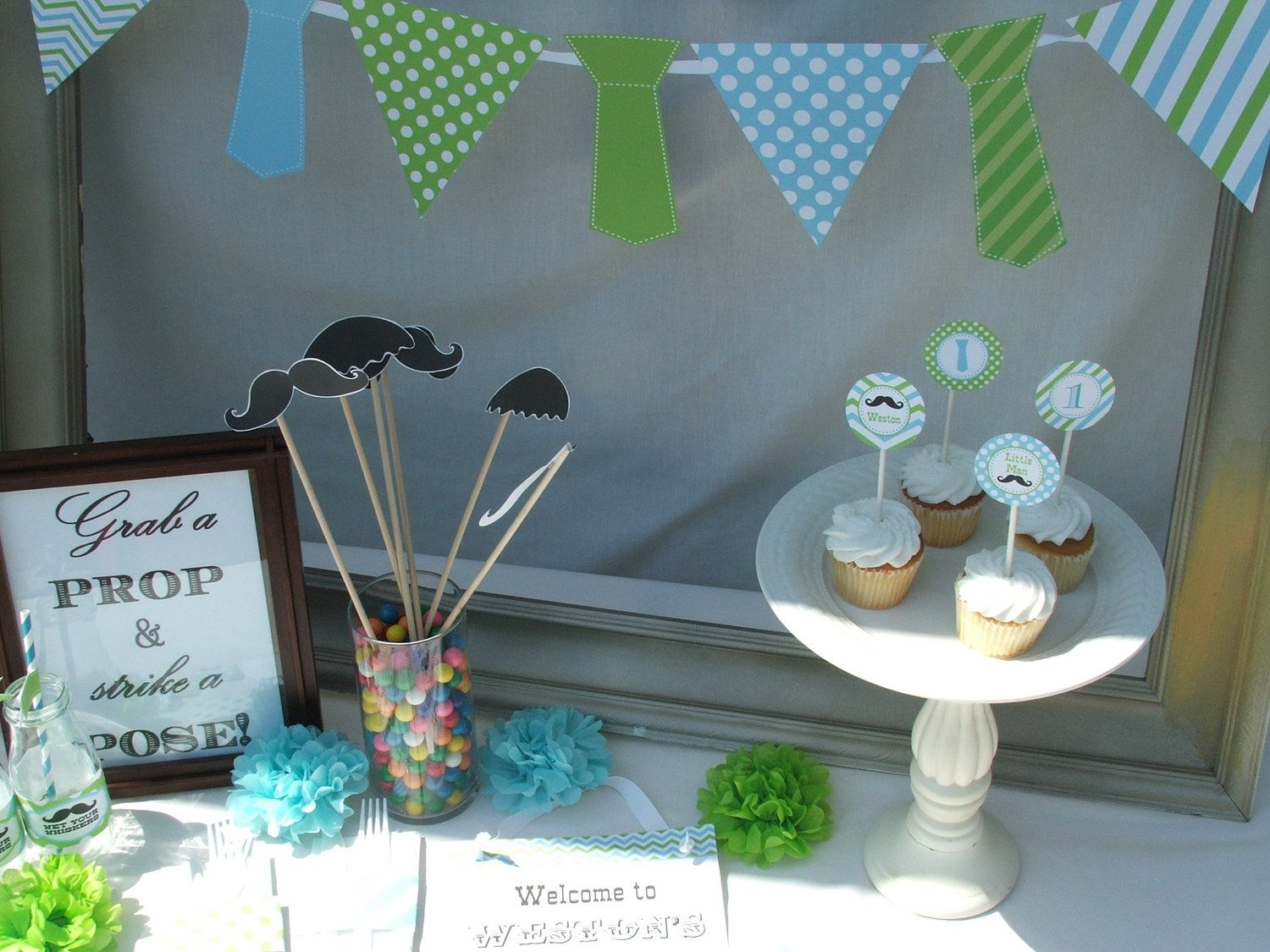 boy first birthday mustache Google Search Party Ideas