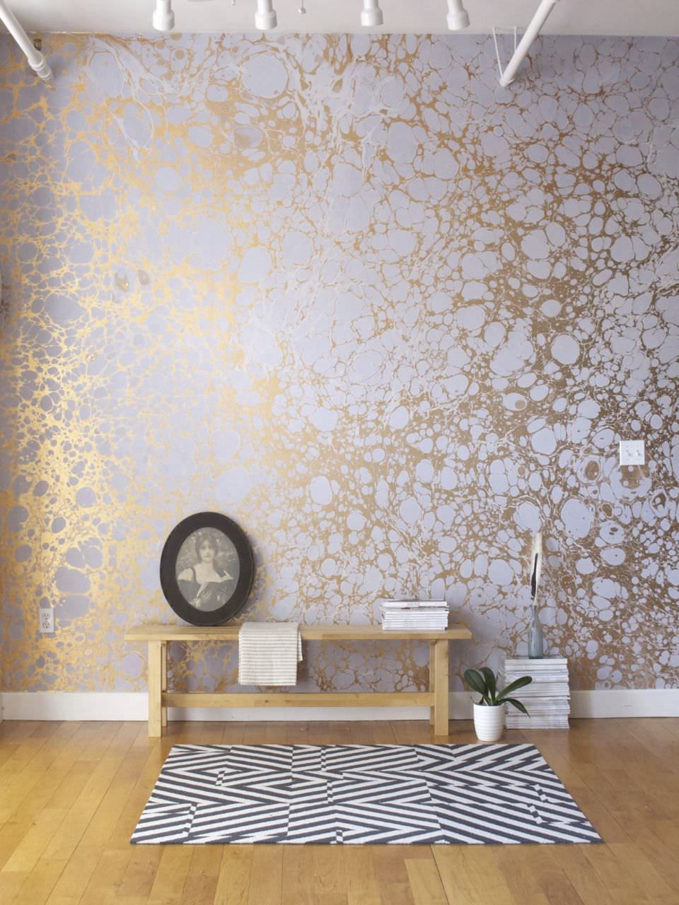 handmade patterned wallpaper lunaris i fog calico wallpaper walls pinterest. Black Bedroom Furniture Sets. Home Design Ideas