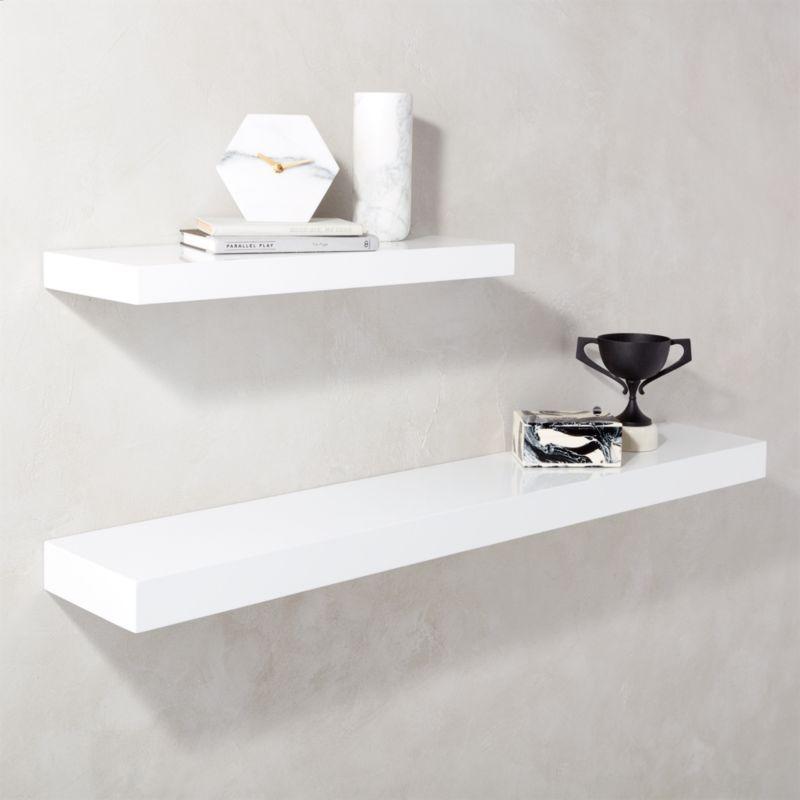Calvin Hi Gloss White Floating Shelves In 2020 Design