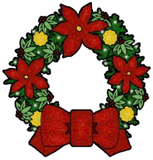 christmas clip art google images christmas clip art christmas rh pinterest com wreath clip art free black and white wreath clipart vector
