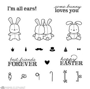 Mama Elephant Clear Stamps HONEY BUNNY | Coloring books ...