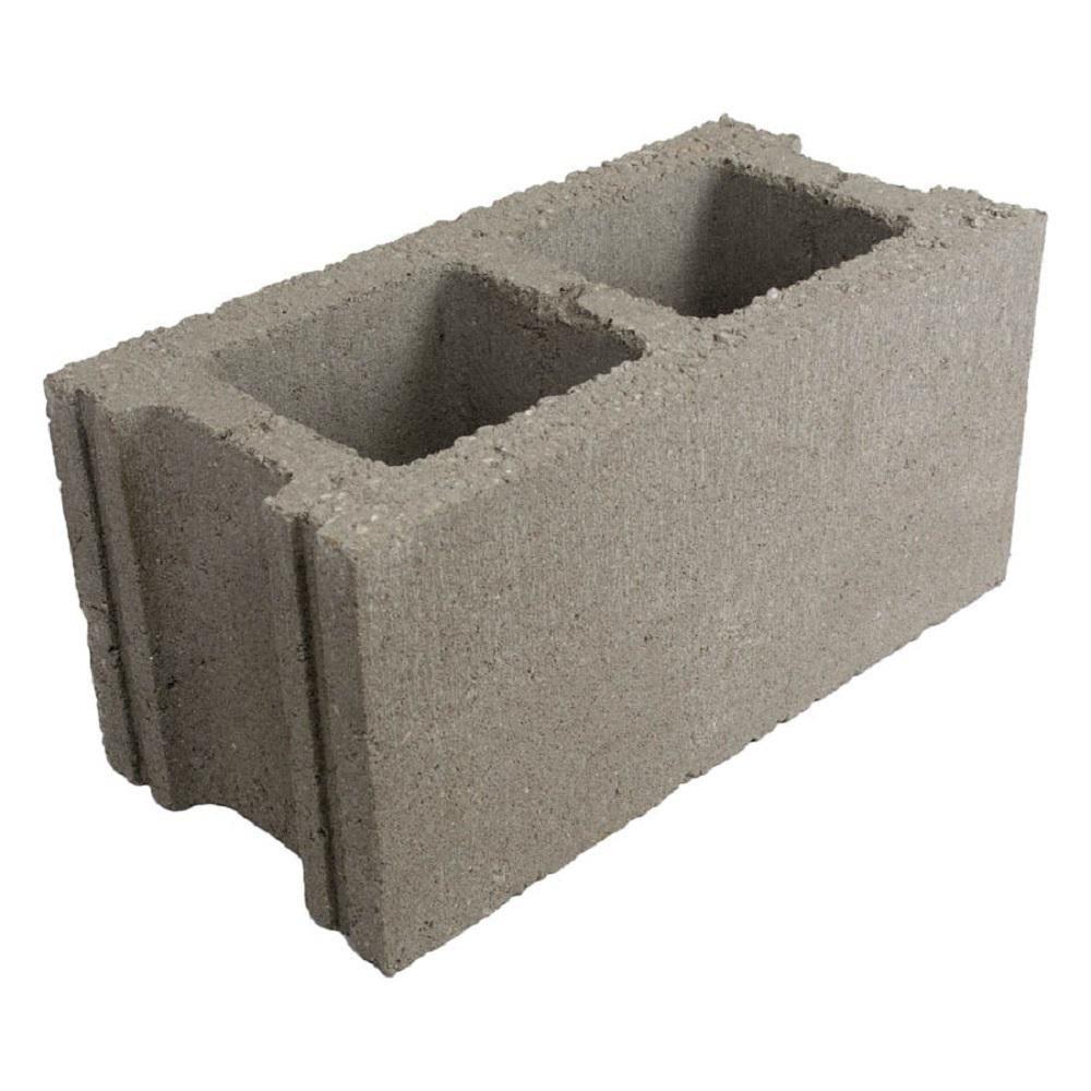 16 In X 8 In X 8 In Light Weight Concrete Block Regular L0808160000009000 The Home Depot In 2020 Concrete Blocks Concrete Cinder Block