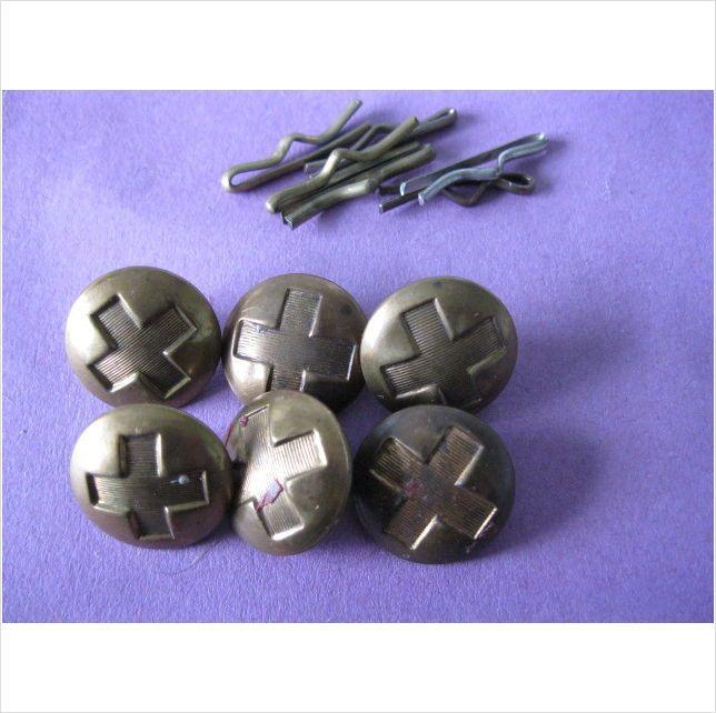 """Set of 6 vintage brass nursing buttons j r gaunt London 5/8"""""""