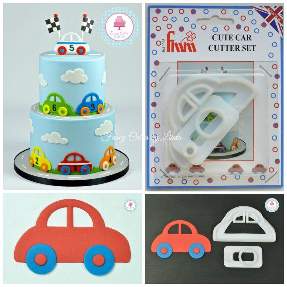 fmm cute car cake decorating cookie cutters by fancycakesbylinda