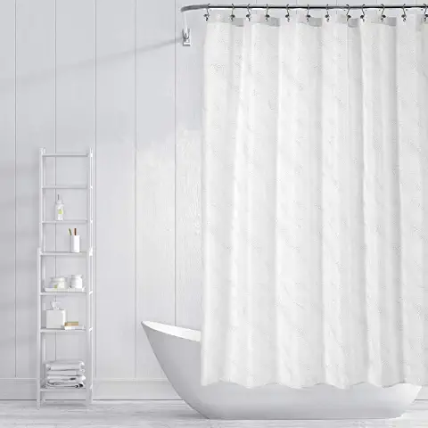 Amazon Com White Shower Curtain In 2020 White Shower Curtain