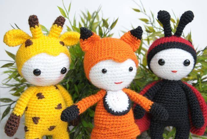 Amigurumi Doll Gratuit : Amigurumi doll in fox costume amigurumi doll amigurumi and free