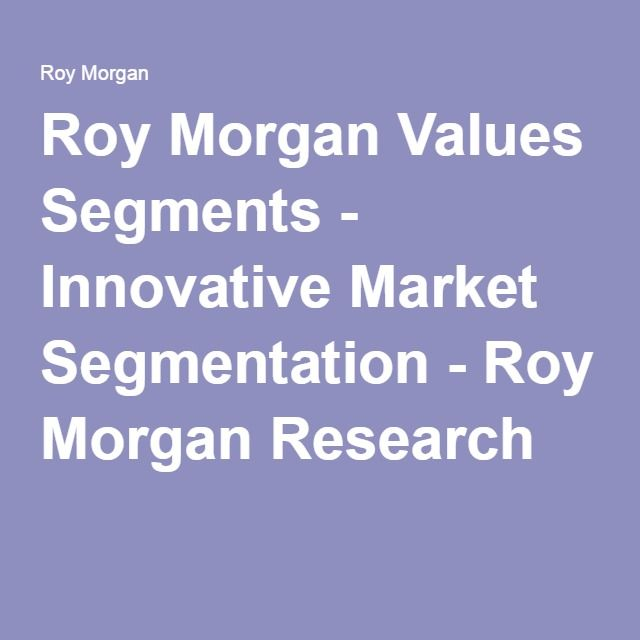 Roy Morgan Values Segments - Innovative Market Segmentation - Roy Morgan Research
