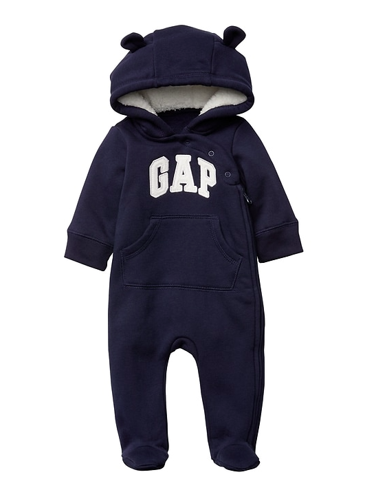1a6e29073 Baby Gap Sherpa Bear Arch Logo Footed Zip One-Piece | Family, Kids ...