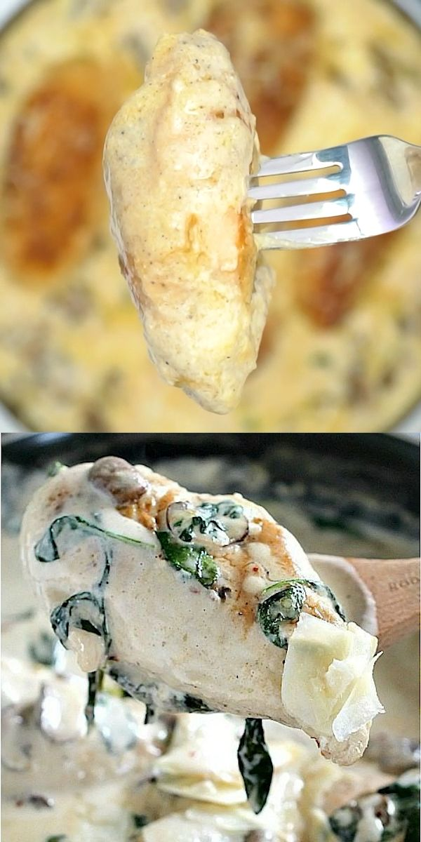 Photo of Pollo cremoso con champiñones y parmesano – Dulce y