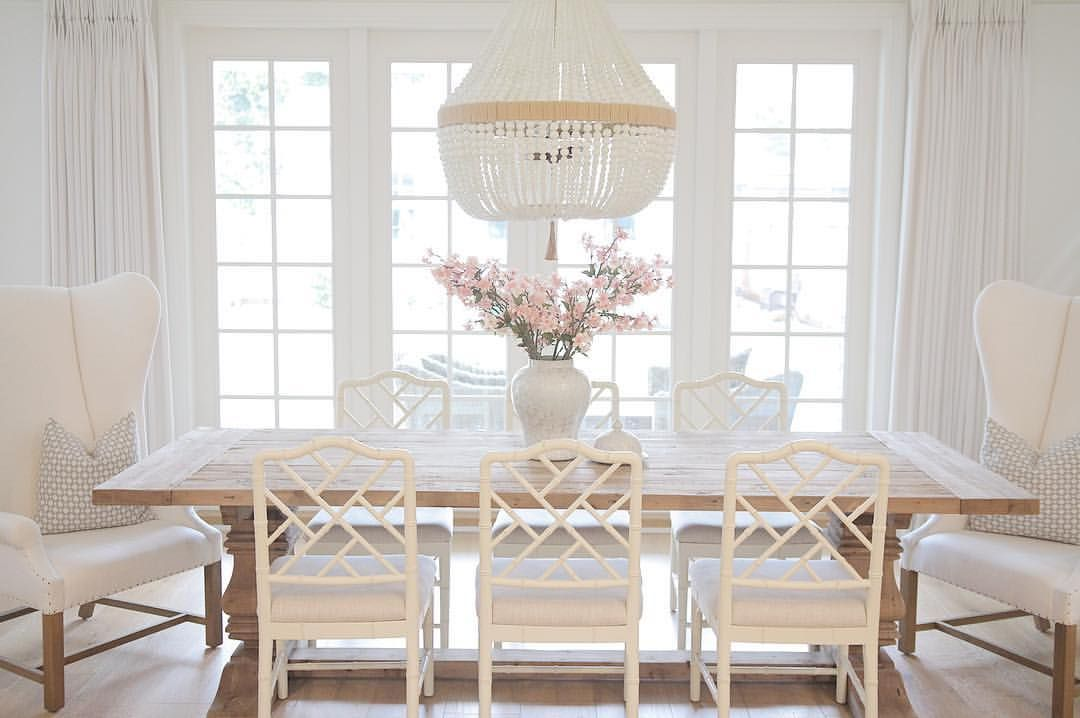 Dayna Chairs Trestle Dining Table