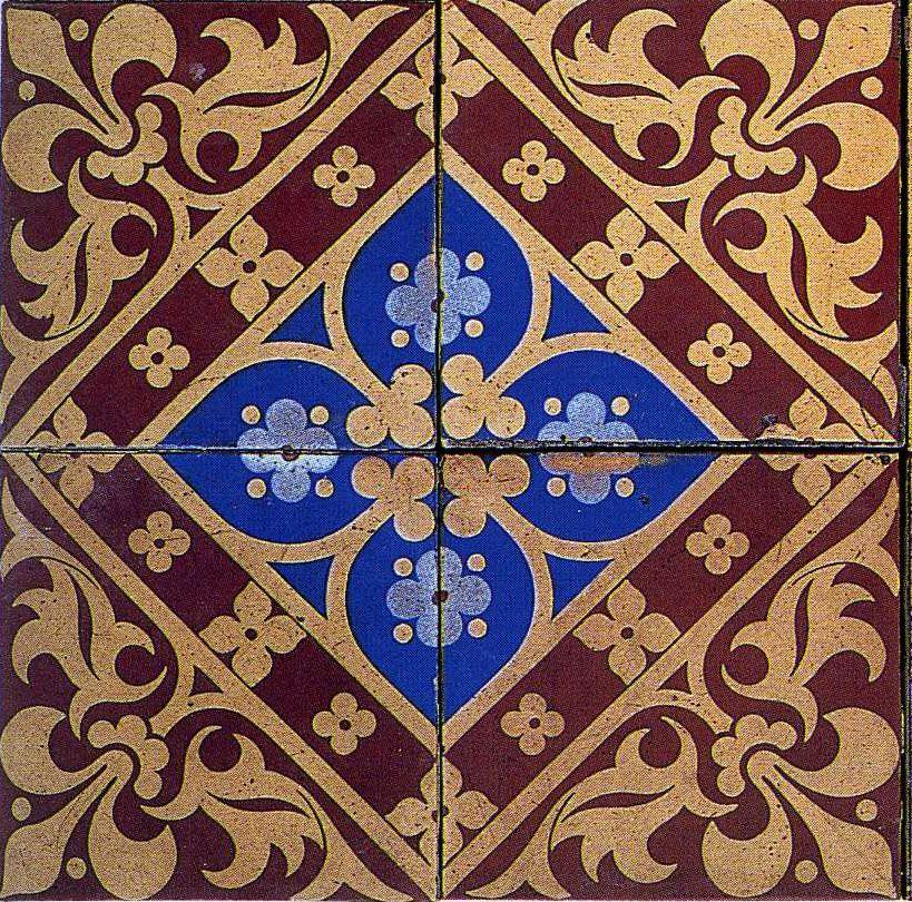 Augustus Welby Northmore Pugin Ceramic Tile Design 1850