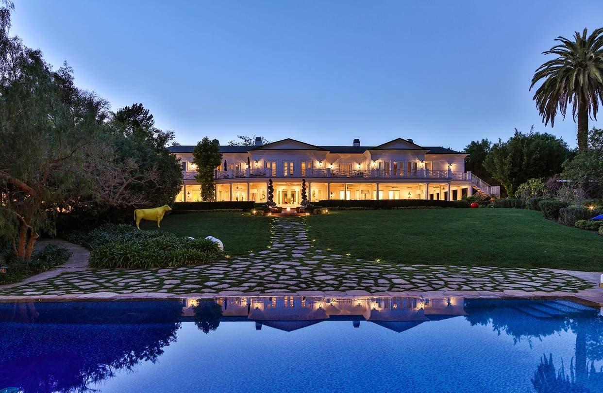 Holmby Hills Villa, Los Angeles: $88million The #13 most expensive house in america. This 88,000,000 home sitting along the coveted sunset strip in Los Angeles is owned by desizner max Azria.   The 30,000 sq foot home was designed and built in the 1930's, has 17 bedrooms, a home theater, moroccan themed pool and a home office with a domed gold leaf ceiling. If that's not enough, there is also a floor to ceiling waterfall chandelier made from over 150,00 crystals