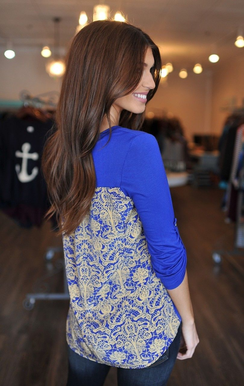Dottie Couture Boutique - Royal Blue Contrast Top, $46.00 (http://www.dottiecouture.com/royal-blue-contrast-top/)