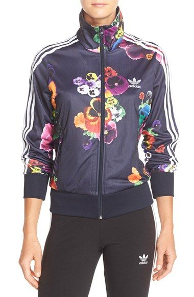adidas Originals 'Firebird' Floral Track Jacket available at #Nordstrom