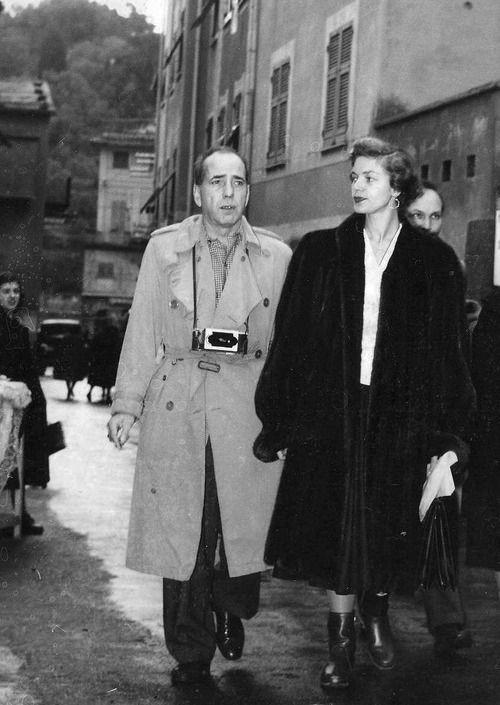 Humphrey Bogart and Lauren Bacall in Portofino, Italy c. 1954