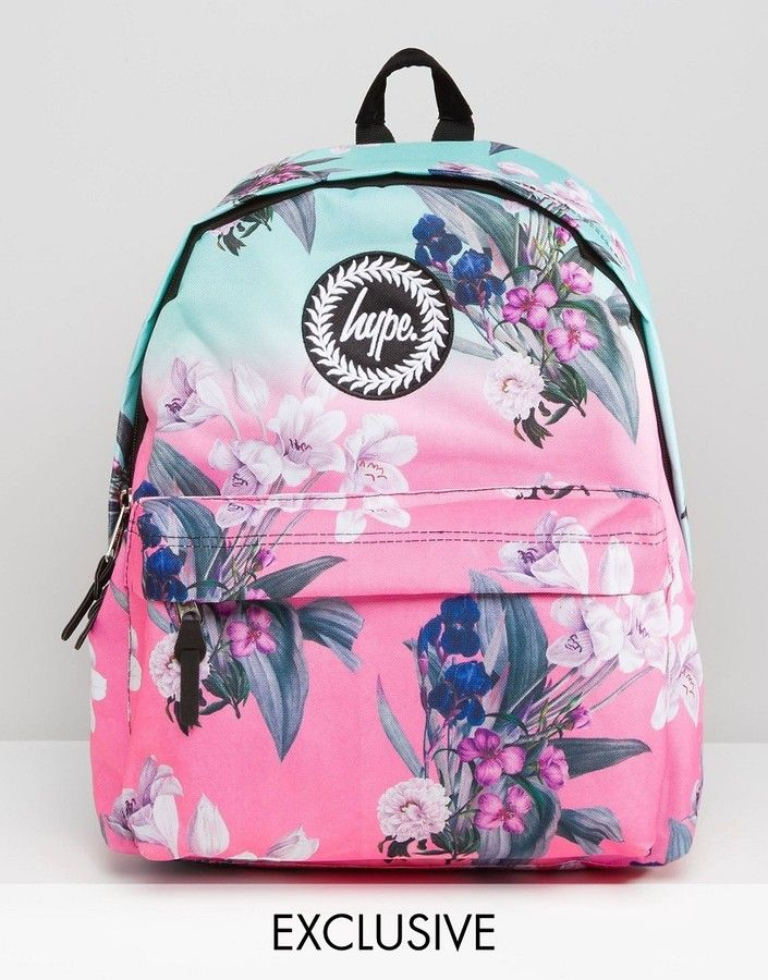 04468b65e Hype | Christmas and Birthday | Floral backpack, Floral bags, Hype bags