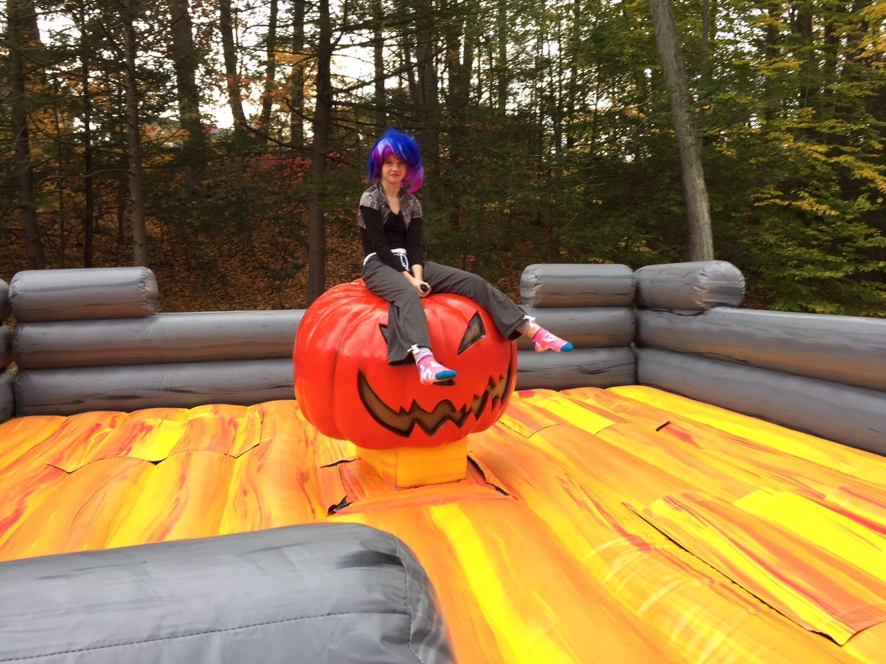 Mechanical Pumpkin Birthday party rentals, to