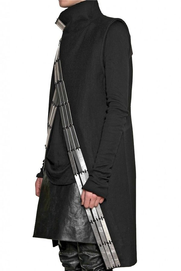 long vest with metal - Google Search