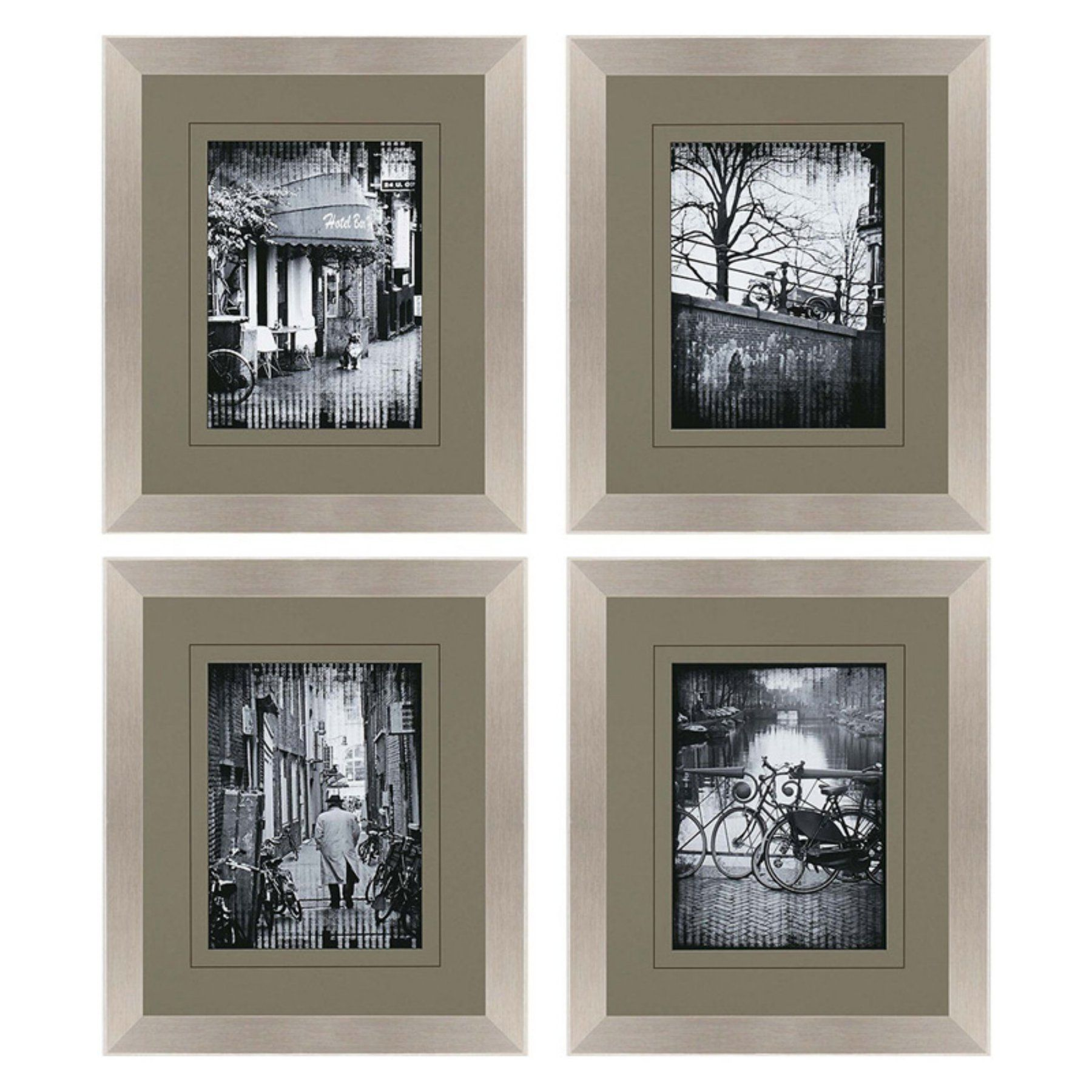Paragon Decor Amsterdam Walk Framed Wall Art   Set Of 4   4959