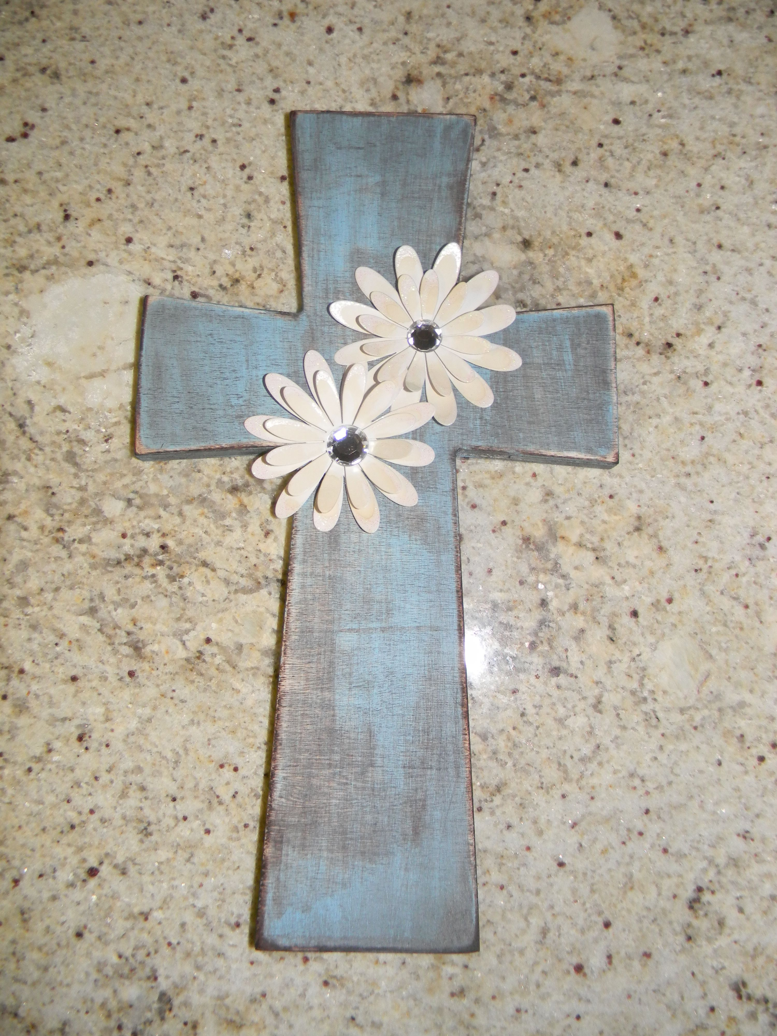 Wooden cross purchased from hobby lobby i painted it sanded it wooden cross purchased from hobby lobby i painted it sanded it stained it amipublicfo Gallery