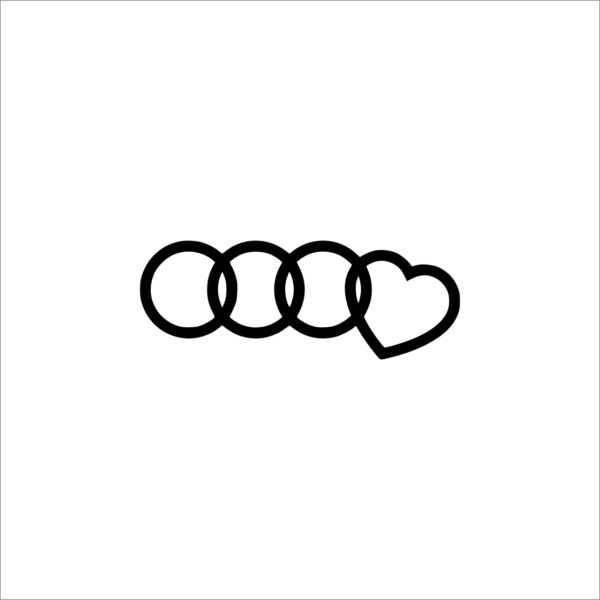 I Love Audi Decal Audi R8 Voiture Stickers