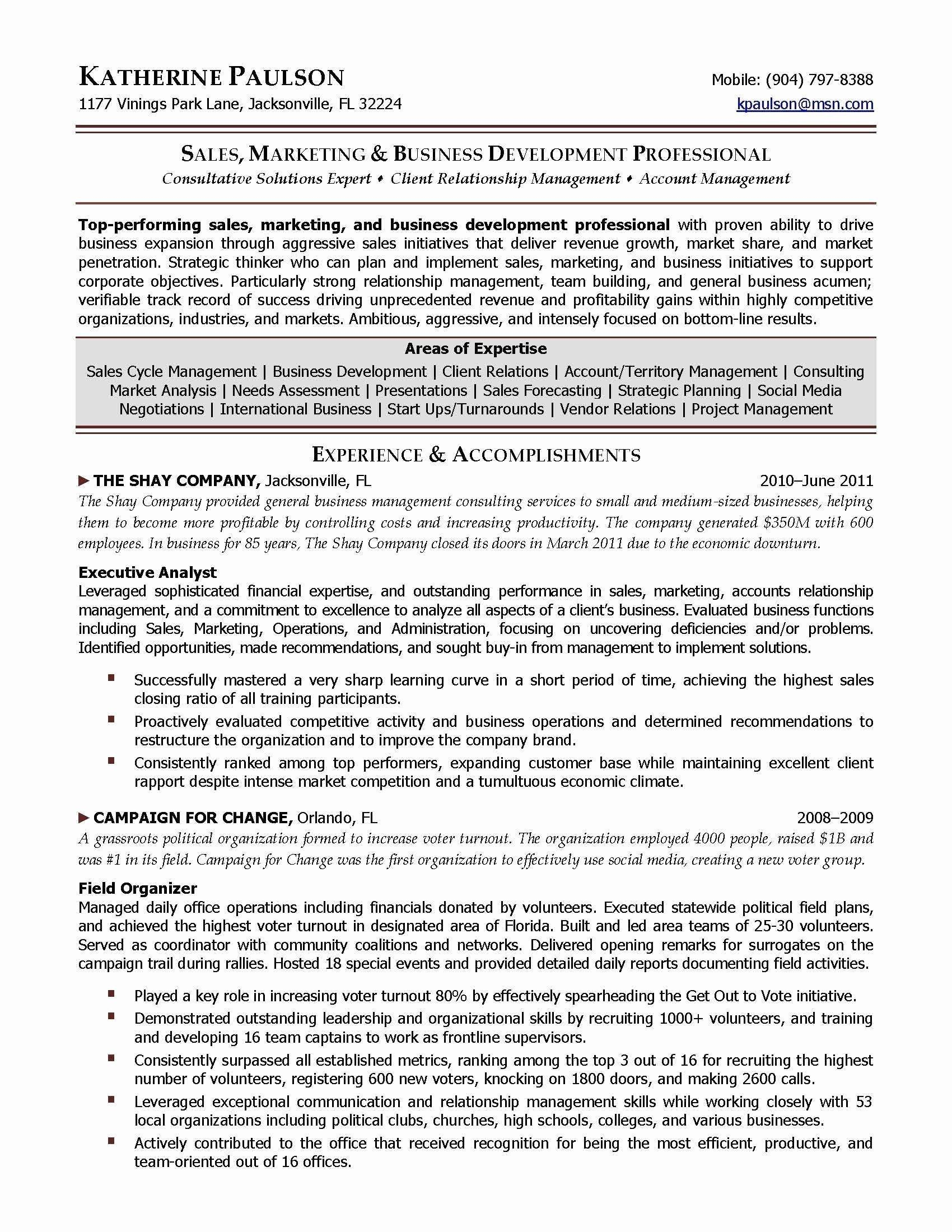 New High Level Business Requirements Template