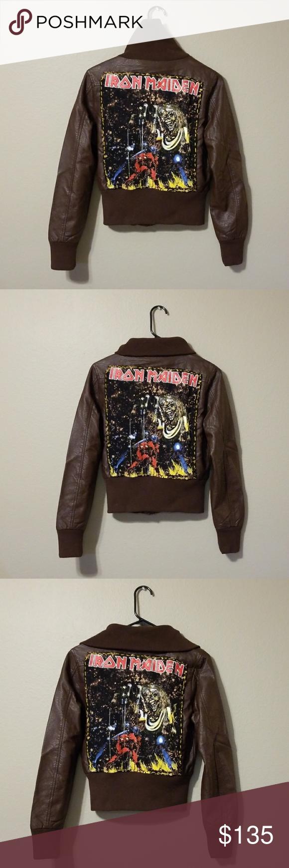 Iron Maiden Jacket Punk Jacket Band Jacket New Punk Jackets Band Jacket Clothes Design [ 1740 x 580 Pixel ]
