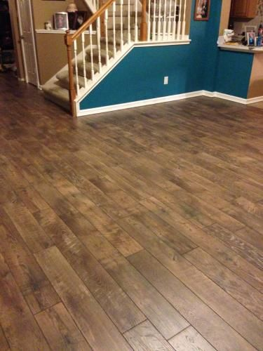 Hampton Bay Country Oak Dusk 12 Mm Thick X 6 3 16 In Wide