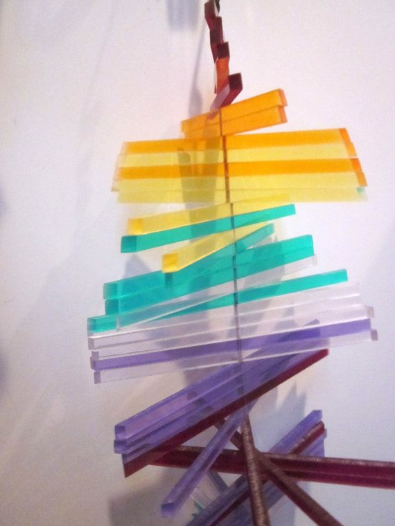 Lucite Acrylic Plexi Glass Sun Catcher Kinetic Op Art